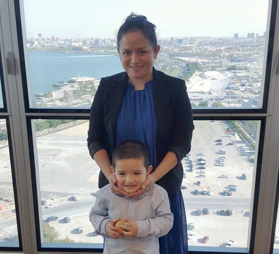Catherine and Adam in the offices of law firm Squire Patton Boggs