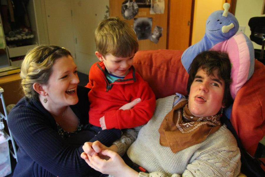 Clare has Rett Syndrome, a rare neurological disorder affecting mostly girls.